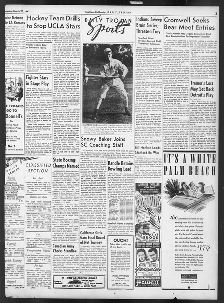 Daily Trojan, Vol. 32, No. 110, March 27, 1941