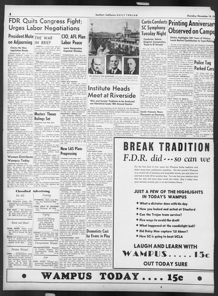 Daily Trojan, Vol. 32, No. 43, November 14, 1940