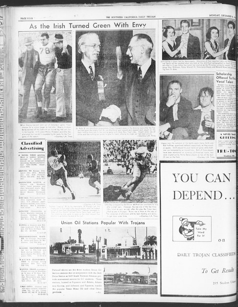 Daily Trojan, Vol. 30, No. 53, December 05, 1938