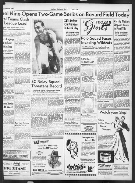 Daily Trojan, Vol. 32, No. 124, April 18, 1941