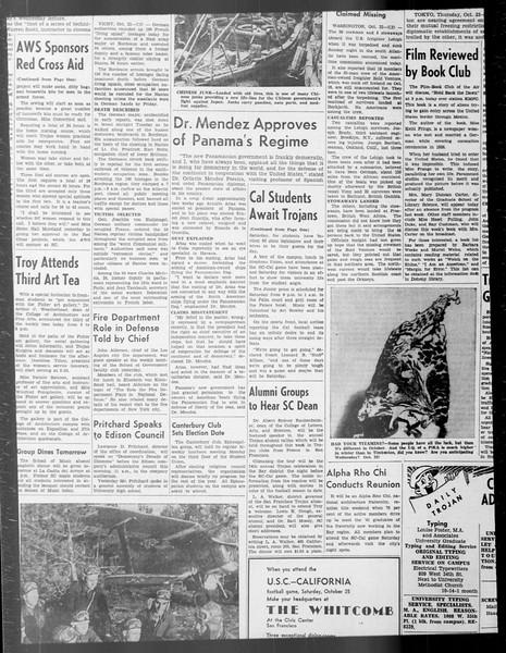 Daily Trojan, Vol. 33, No. 27, October 17, 1941