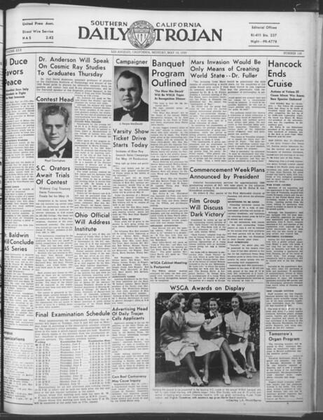 Daily Trojan, Vol. 30, No. 136, May 15, 1939
