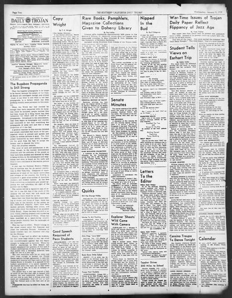 Daily Trojan, Vol. 29, No. 60, January 05, 1938