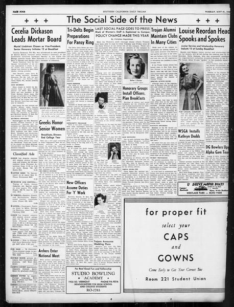 Daily Trojan, Vol. 31, No. 149, May 21, 1940