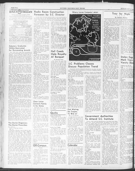 Daily Trojan, Vol. 30, No. 141, May 22, 1939