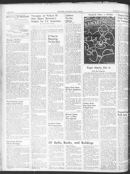 Daily Trojan, Vol. 30, No. 65, January 12, 1939