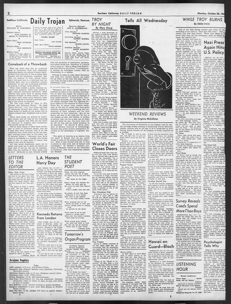 Daily Trojan, Vol. 32, No. 32, October 28, 1940