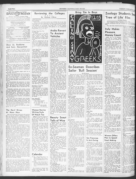 Daily Trojan, Vol. 30, No. 83, February 21, 1939