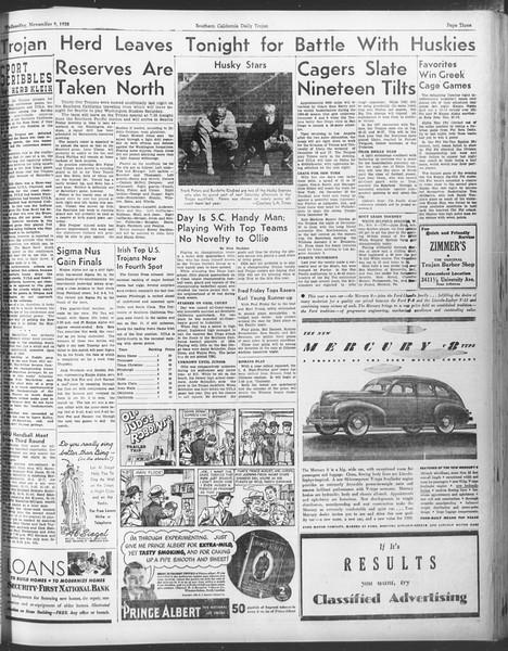 Daily Trojan, Vol. 30, No. 38, November 09, 1938