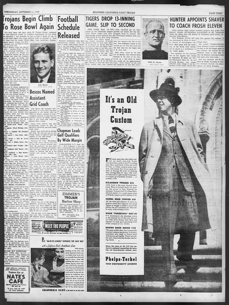 Daily Trojan, Vol. 32, No. 1, September 11, 1940