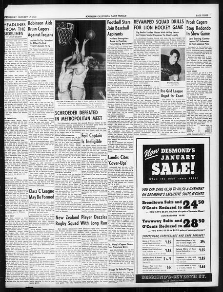 Daily Trojan, Vol. 31, No. 75, January 17, 1940