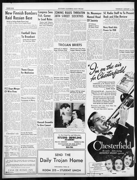 Daily Trojan, Vol. 31, No. 66, January 04, 1940