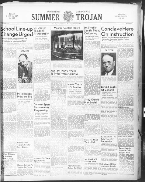 Summer Trojan, Vol. 17, No. 6, July 12, 1938
