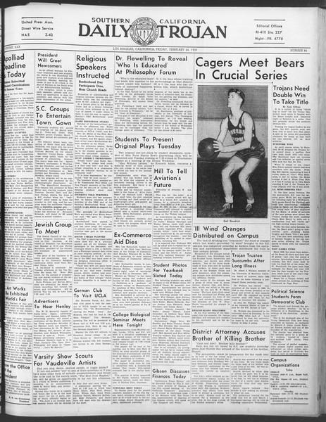 Daily Trojan, Vol. 30, No. 85, February 24, 1939
