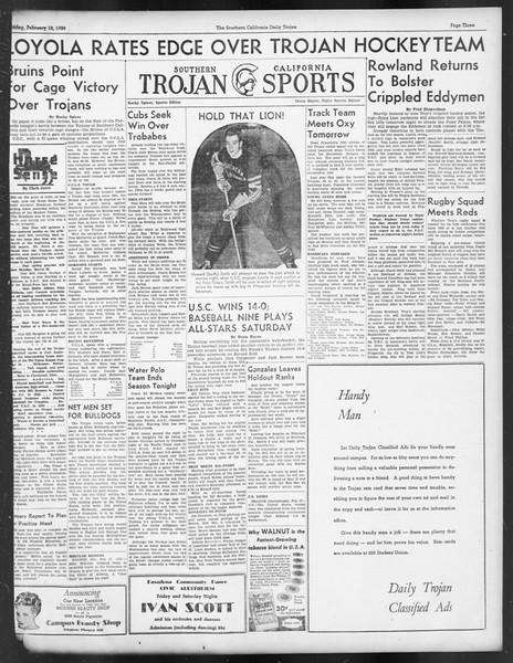 Daily Trojan, Vol. 29, No. 83, February 18, 1938