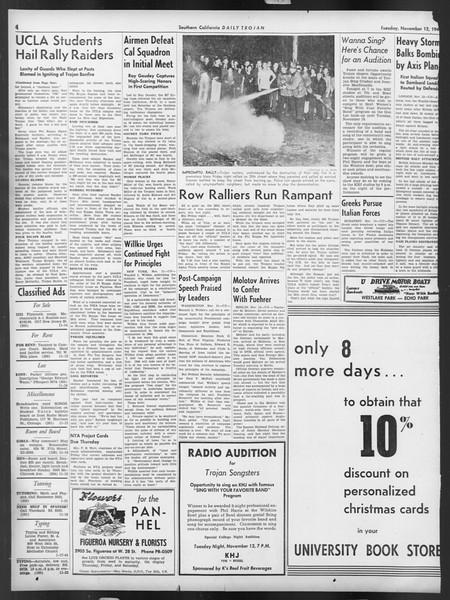 Daily Trojan, Vol. 32, No. 41, November 12, 1940