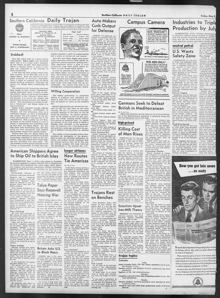 Daily Trojan, Vol. 32, No. 133, May 02, 1941