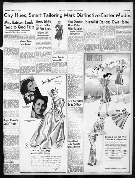 Daily Trojan, Vol. 31, No. 105, March 15, 1940