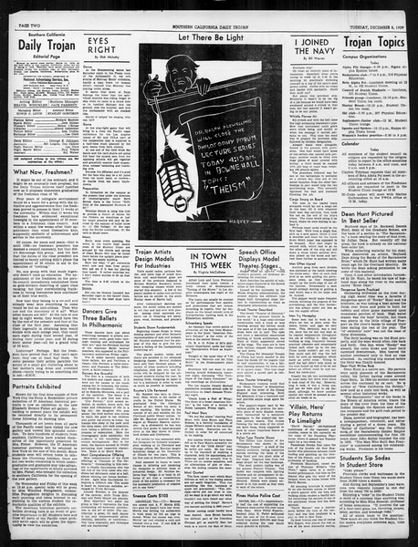 Daily Trojan, Vol. 31, No. 55, December 05, 1939