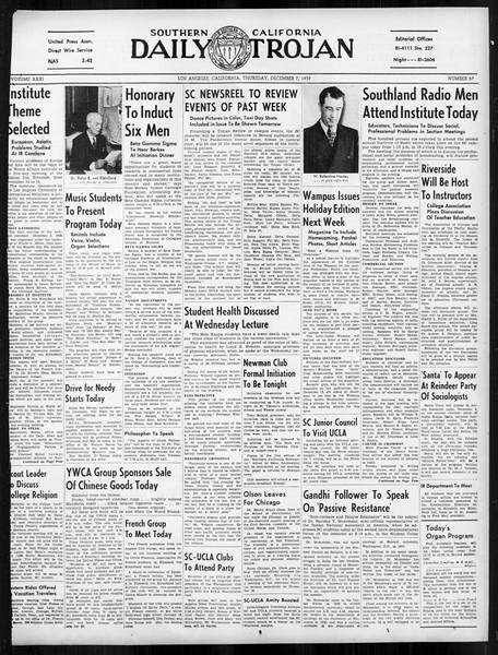 Daily Trojan, Vol. 31, No. 57, December 07, 1939