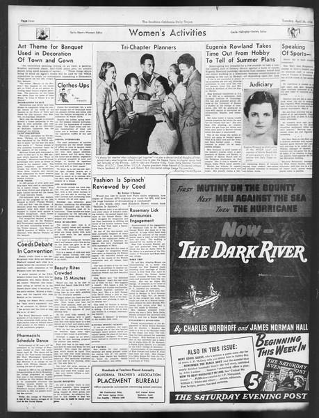 Daily Trojan, Vol. 29, No. 123, April 26, 1938