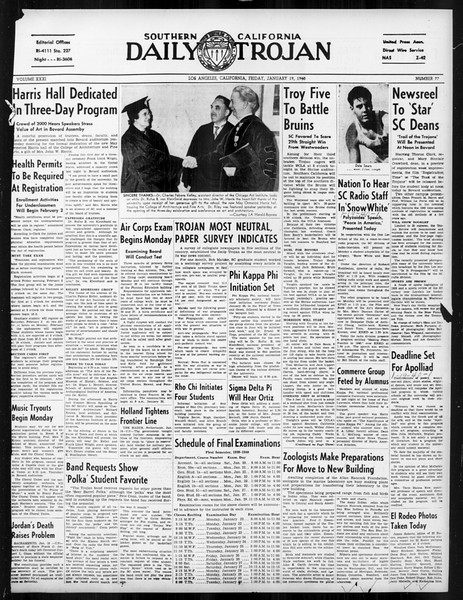 Daily Trojan, Vol. 31, No. 77, January 19, 1940