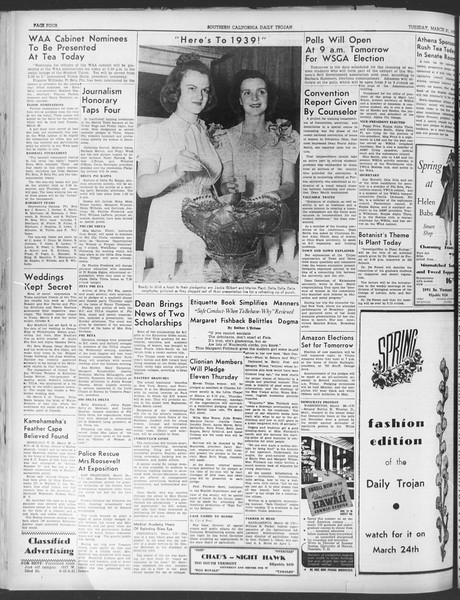 Daily Trojan, Vol. 30, No. 102, March 21, 1939