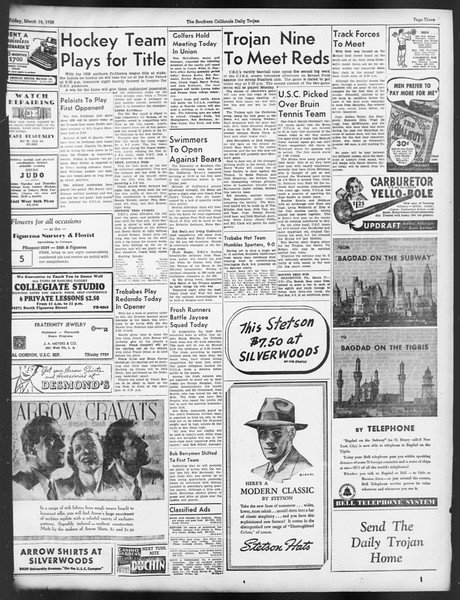 Daily Trojan, Vol. 29, No. 101, March 18, 1938