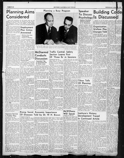 Southern California Daily Trojan: U.S.C. Institute of Government, Vol. 6, No. 2, June 14, 1939