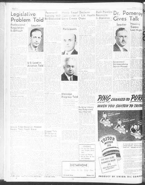 Southern California Daily Trojan: U.S.C. Institute of Government, Vol. 5, No. 3, June 17, 1938