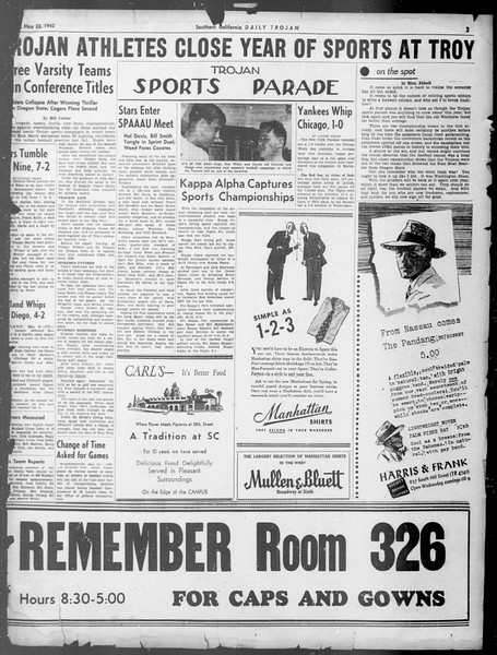 Daily Trojan, Vol. 33, No. 148, May 22, 1942