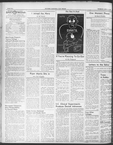 Daily Trojan, Vol. 30, No. 114, April 13, 1939