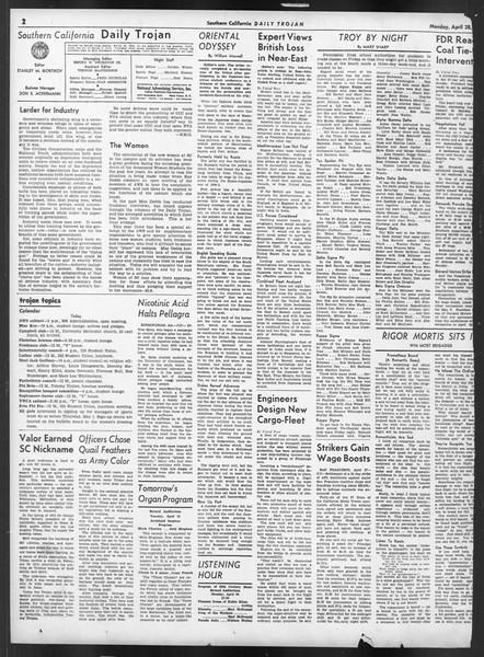 Daily Trojan, Vol. 32, No. 129, April 28, 1941