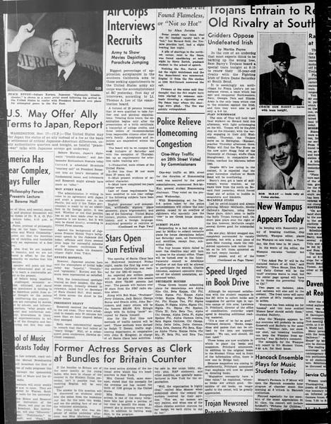 Daily Trojan, Vol. 33, No. 37, October 29, 1941