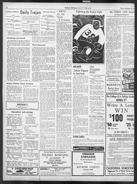 Daily Trojan, Vol. 32, No. 26, October 18, 1940