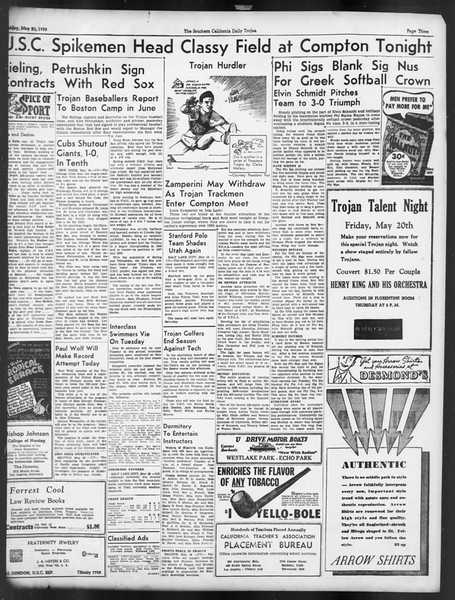 Daily Trojan, Vol. 29, No. 141, May 20, 1938