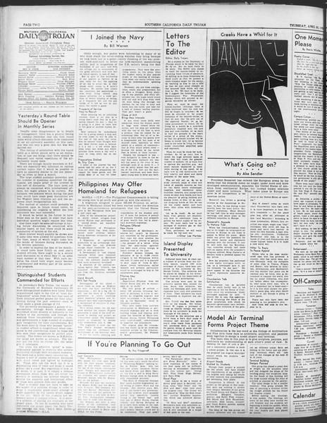 Daily Trojan, Vol. 30, No. 119, April 20, 1939