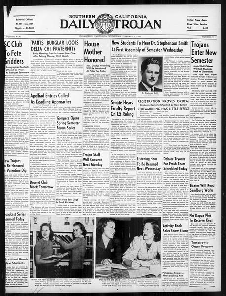 Daily Trojan, Vol. 31, No. 79, February 07, 1940