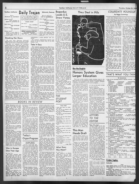 Daily Trojan, Vol. 32, No. 30, October 24, 1940