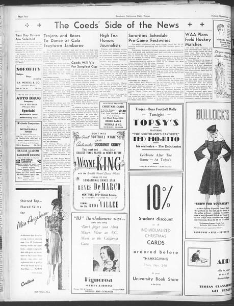 Daily Trojan, Vol. 30, No. 35, November 04, 1938