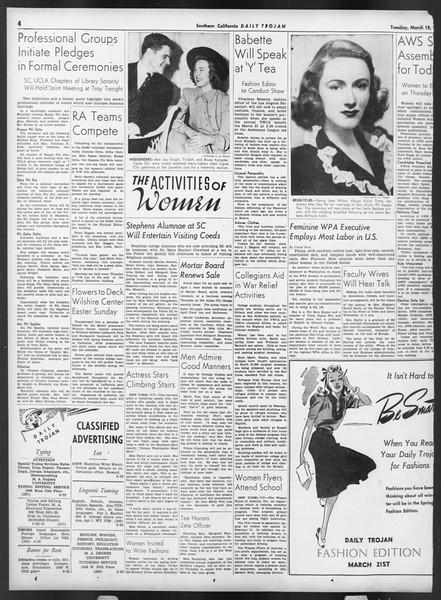 Daily Trojan, Vol. 32, No. 103, March 18, 1941