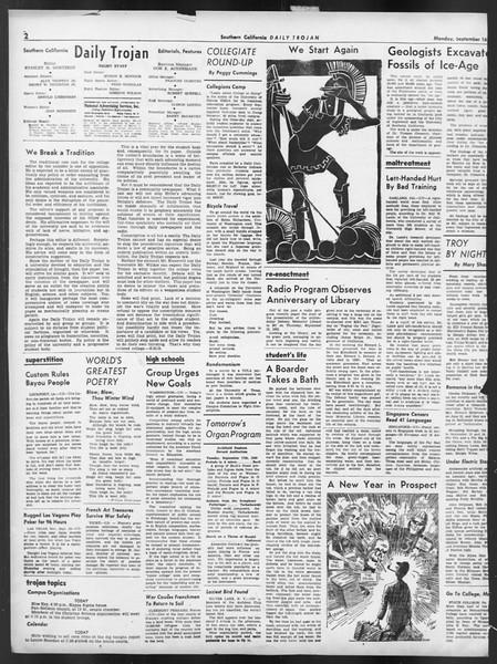 Daily Trojan, Vol. 32, No. 2, September 16, 1940