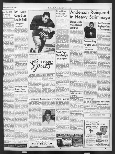 Daily Trojan, Vol. 32, No. 34, October 31, 1940