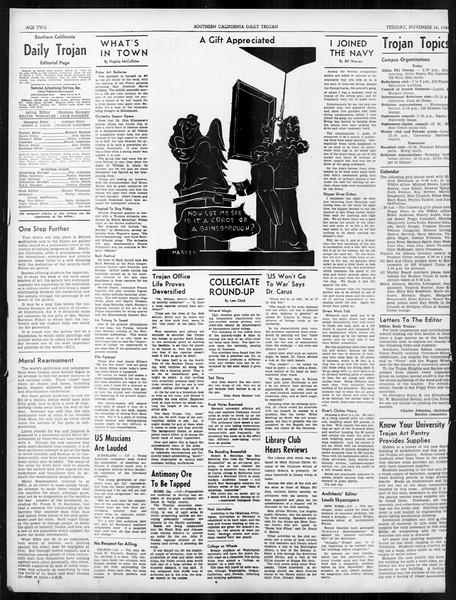 Daily Trojan, Vol. 31, No. 42, November 14, 1939