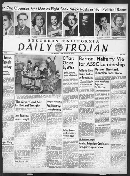 Daily Trojan, Vol. 32, No. 106, March 21, 1941
