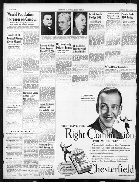 Daily Trojan, Vol. 31, No. 12, October 02, 1939