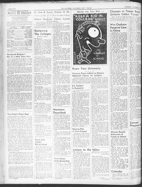 Daily Trojan, Vol. 30, No. 54, December 06, 1938