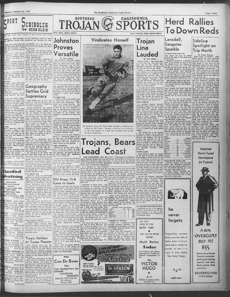 Daily Trojan, Vol. 30, No. 27, October 24, 1938
