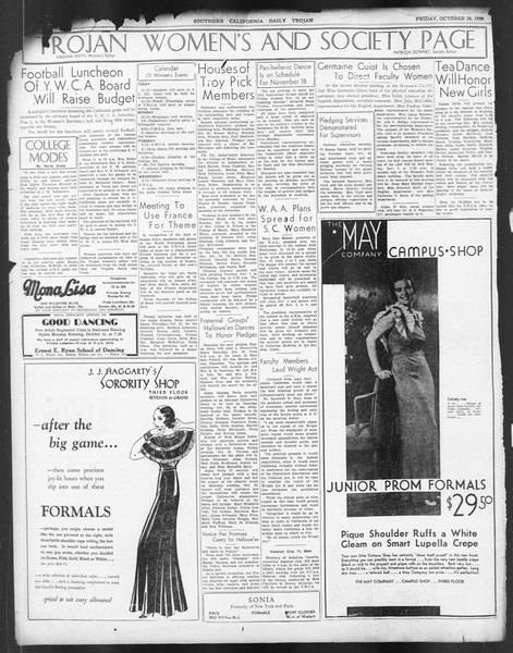 Daily Trojan, Vol. 24, No. 35, October 28, 1932
