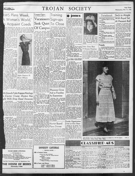 Daily Trojan, Vol. 39, No. 108, March 31, 1948